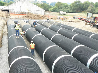 underground culverts installed at the ranch